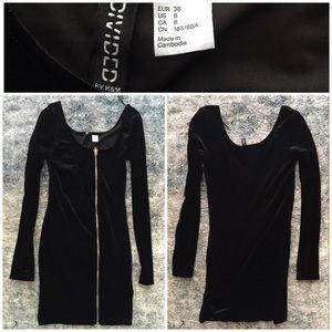 Divided by H&M long sleeve velvet dress (8)
